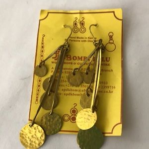 Hand made brass earrings